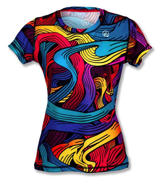 INKnBURN Women's Gratitude Tech Shirt Front