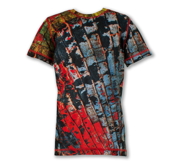 Boy's Brick Wall Tech Shirt Front