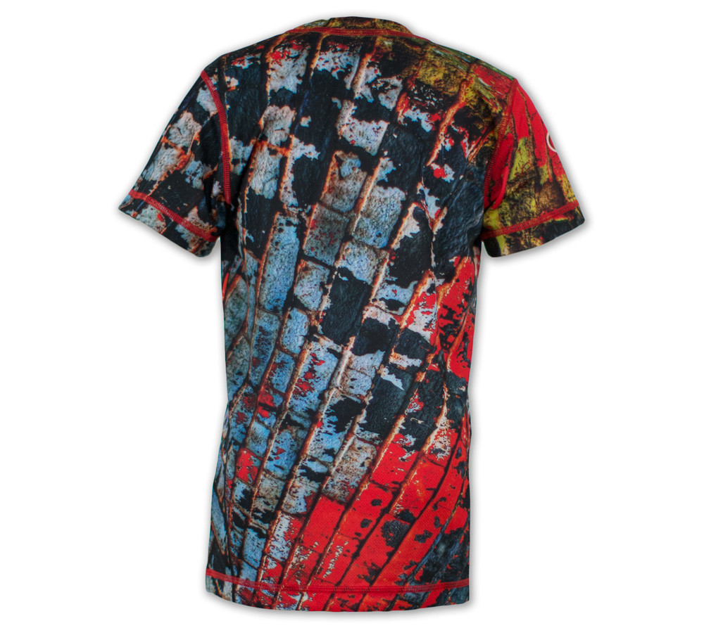 Boy's Brick Wall Tech Shirt Back