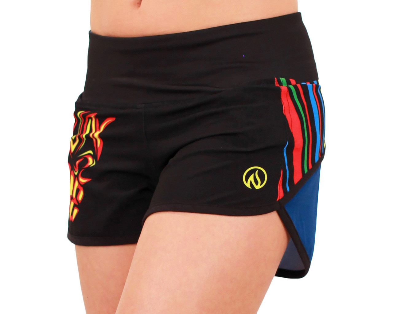 INKnBURN Women's Run or Die Shorts Waistband Up