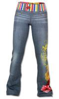 INKnBURN Women's Wildflower Pants Front