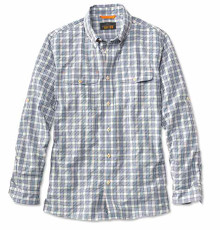 Orvis Rainy Bridge Long-Sleeved Shirt- Blue