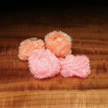Hareline Cactus Chenille- Peachy Flesh (top) and Shrimp Pink