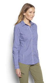 Women's River Guide Tech Gingham Shirt- Orvis (Ocean Blue)