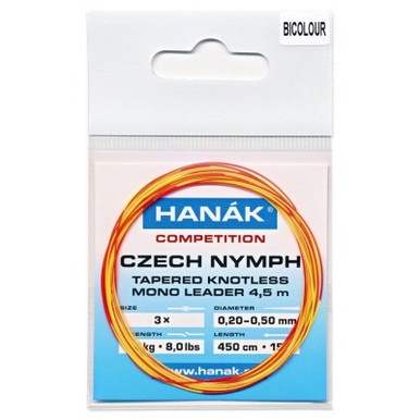 Hanak Competition Czech Nymph Leader- Bi-Color