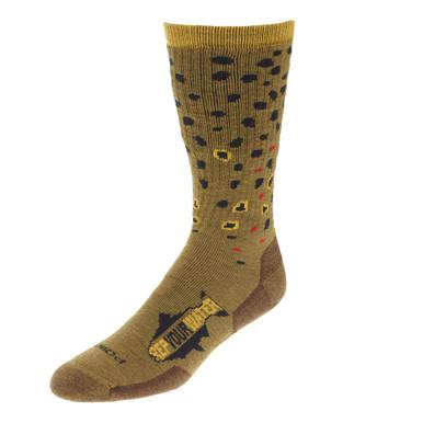 RYW Rep Your Water Merino Wool Socks (Brown Trout)