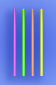 "JUMBO COCKTAIL STRAW 5.5"" - NEON - 30/250 (7,500/case)"