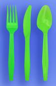 MEDIUM WEIGHT SPOON, FORK, KNIFE - NEON GREEN - 3/1000 (3,000/case)