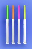 "GIANT STRAW 7.75""  - PAPER WRAPPED - NEON - 24/350 (8,400/case)"