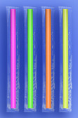 "JUMBO STRAW 10.25""  - CELO WRAPPED - NEON - 4/350 (1,400/case)"