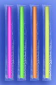 "JUMBO STRAW 10.25""  - CELO WRAPPED - NEON - 4/350 (1,400/case)"