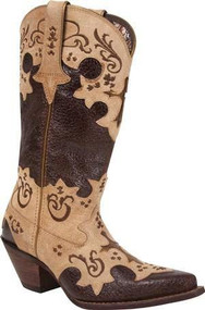 Durango DCRD138 Chocolate Tan Western Boots