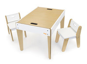 Pkolino Little Modern Table and Chairs - White