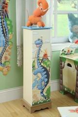 Teamson Design Kids Dinosaur Kingdom 5 Drawer Cabinet