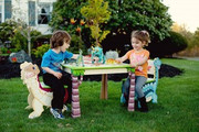 Teamson Design Kids Dinosaur Kingdom Table and 2 Chairs Set