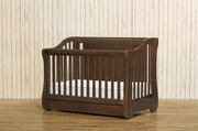 Franklin & Ben Mayfair 4-In-1 Convertible Crib with Toddler Rail - Rustic Brown