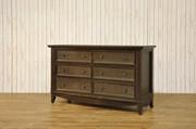 Franklin & Ben Arlington Double Wide Dresser - Rustic Brown