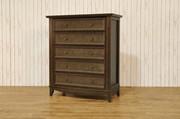 Franklin & Ben Arlington Tall Dresser - Rustic Brown