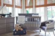 Million Dollar Baby Classic Foothill 4-in-1 Convertible Crib-Grey