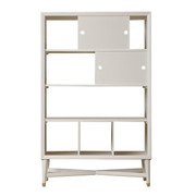 DwellStudio Mid-Century Bookcase in French White