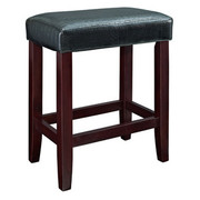 Powell Croc Faux Leather Counter Stool - Black