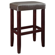 Powell Croc Faux Leather Barstool - Brown