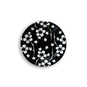 notNeutral Black Flora Small Plate - Set of 4