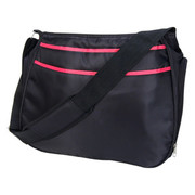Trend Lab Black and Fuchsia Pink Ultimate Hobo Diaper Bag