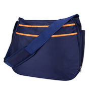 Trend Lab Navy Blue and Orange Ultimate Hobo Diaper Bag