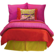 Koko Company Essential Reversible Duvet Cover - Red and Fuchsia
