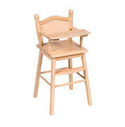 Guidecraft Doll High Chair - Natural
