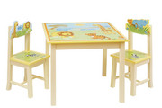 Guidecraft Savanna Smiles Table and Chairs Set