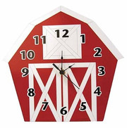 Trend Lab Baby Barnyard Wall Clock - Barn