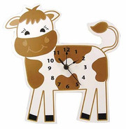 Trend Lab Baby Barnyard Wall Clock - Cow