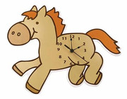 Trend Lab Baby Barnyard Wall Clock - Pony