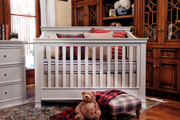 Million Dollar Baby Classic Foothill Convertible Crib- Dove White