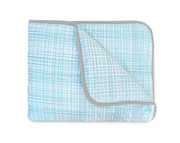 Olli and Lime Hatch Crib Quilt - Blue