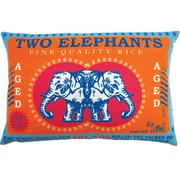 "Koko Company Rice 13"" x 20"" Pillow with Two Elephants Print"