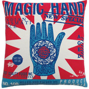 "Koko Company Rice 20"" x 20"" Pillow with Magic Hand Print"