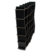 Sprout Kids 25 Cubby Wave Mid Century Bookshelf - Black