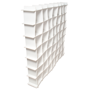 Sprout Kids 49 Cubby Large Wave Bookcase - White