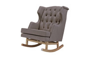 NURSERYWORKS Empire Rocker Hazelnut Weave w/ Light Legs