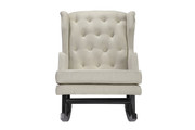 NURSERYWORKS Empire Rocker Oatmeal Weave w/ Dark Legs
