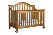 DAVINCI Clover 4 in 1 Convertible Crib w/ Toddler Conversion in Chestnut Finish