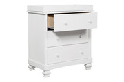 DAVINCI Clover 3-Drawer Changer Dresser w/ Changing Tray-White Finish