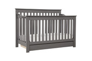 DAVINCI Piedmont 4 in 1 Convertible Crib w/ Conversion in Slate Finish