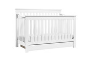 DAVINCI Piedmont 4 in 1 Convertible Crib w/Conversion in White