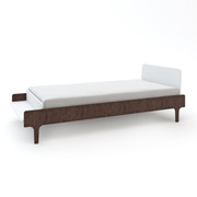 Oeuf River Twin Bed in White and Walnut