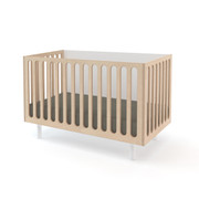 Oeuf Fawn Crib and Bassinet System in White-Birch