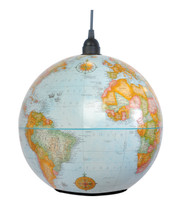 Shiner World Globe Light - Blue Finish  9""